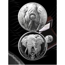 R20 BIG 5 ELEPHANT 1OZ PLATINUM PROOF